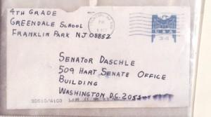 Anthrax letter sent to Sen. Daschle/fbi photo