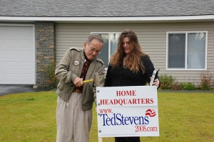 Sen. Stevens Back Home/campaign web page