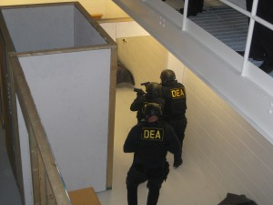 DEA Agents Simulate Meth Raid During Dedication/ticklethewire.com photo