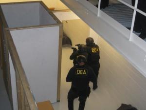 DEA Agents Simulate Meth Raid During Dedication/ticklethewire.com photo