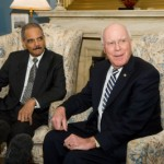 Sen. Leahy supports Eric Holder (left)/official photo