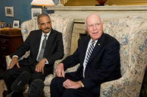 Sen. Leahy meets with Eric Holder before confirmation (left)/official photo