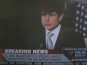 Gov. Blagojevich holds press confernce Friday After Impeachment Vote