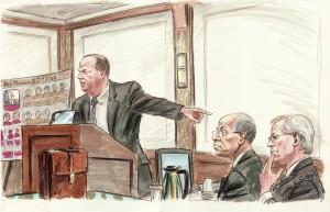 The Jefferson trial/courtesy of Art Lien/NBC News
