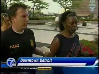 FBI Agent arrests Bernice Brown/channel 7 detroit