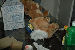 heroin stuffed in teddy bear/dea photo