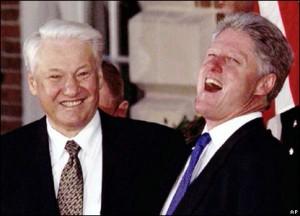 Boris Yeltsin with Clinton/bbc photo