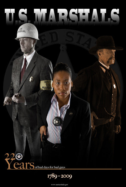 In honor of the 220th anniversary of the U.S. Marshals Service, the agency's photojournalist Shane McCoy came up with a poster combining the Marshals Service of today and yesteryear.