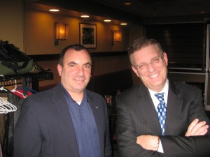 Rich Koko (left) and FBI's Jeff McCrehan at going away party