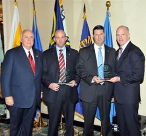 Robert Rosen of FLEF, SA Kevin Ponder, SA Dave Caskey and ADIC Joseph Demarest/FBI photo