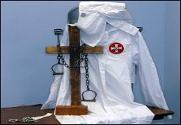 FBI file photo of KKK items.