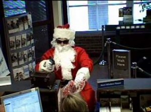 A robber dressed as Santa Claus robbed a metro Nashville bank.