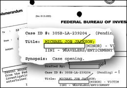 Michael Jackson file/fbi art