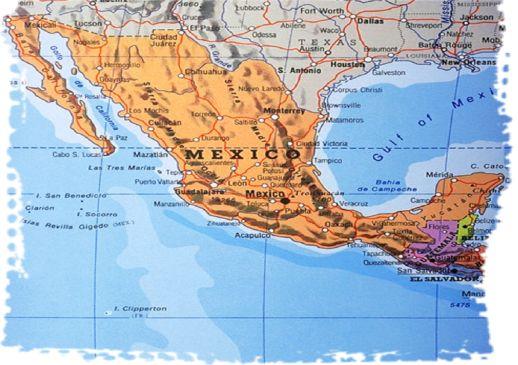 Mexico border map