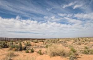 Border Fence in the Desert