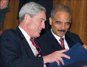 Robert Mueller and Eric Holder in 2009/fbi photo