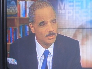 Atty. Gen. Holder on Sunday morning