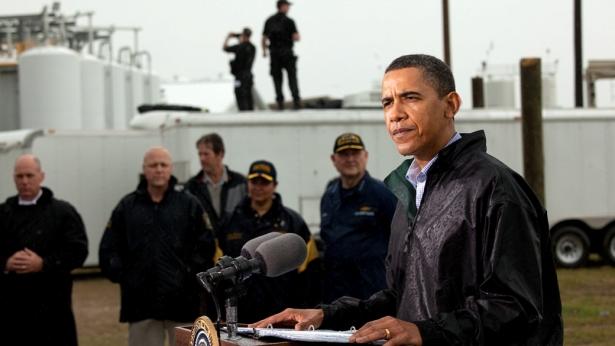 The President in Louisiana/white house photo