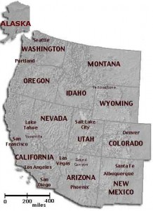 western u.s. map