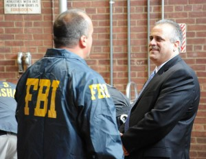 Acting Head Venizelos at gang arrests in Newburgh, N.Y./fbi photo