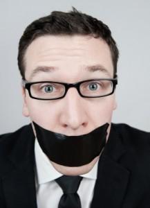 gagged journalist