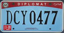 diplomatic tag