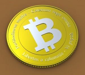 3-D model of a virtual bitcoin. Photo: Trader Tim/Flickr