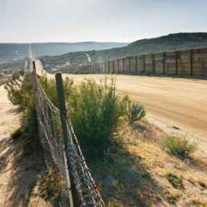 Border fence along Mexico and the U.S.