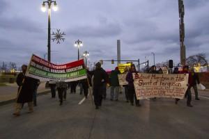 Ferguson protest.