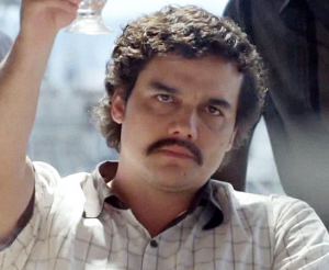 Wagner Moura plays Pablo Escobar