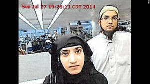 The San Bernardino couple who opened fire at a holiday party.