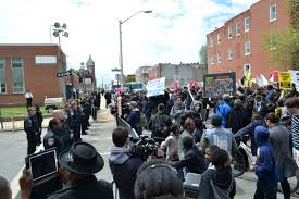 Freddie Gray protest, via Wikipedia.