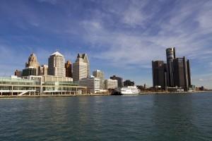 Detroit riverfront. Photo by Steve Neavling.