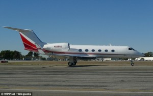 A Gulfstream IV jet like this was used numerous times to send immigrants home.