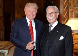 Donald Trump and former butler Anthony Senecal.