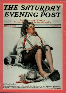 The Norman Rockwell painting was featured in the
