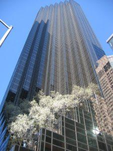 Trump Tower in New York City, via Wikipedia.