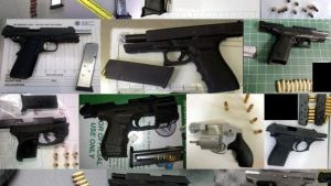 Recently discovered guns, courtesy of TSA.