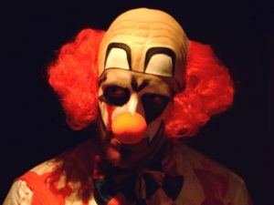 Creepy clown, via Wikipedia