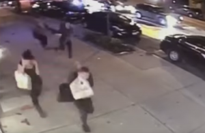 Screenshot of surveillance video showing the bomb blast in Chelsea.