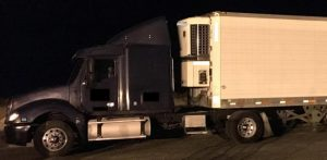 Tractor-trailer where 30 illegal immigrants were found, via Border Patrol.
