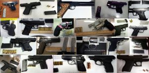 Guns seized by the TSA.