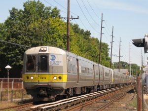 Long Island Rail Road train, via Wikipedia.