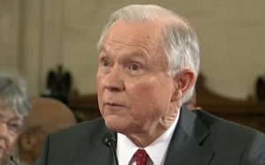Attorney General Jeff Sessions during his confirmation hearing in January.