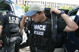 ICE agents, via ICE.
