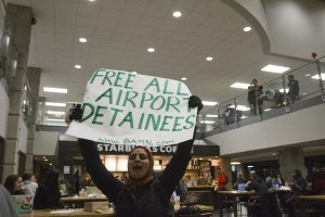 Protest at Wayne State University in Detroit. Photo by Steve Neavling.
