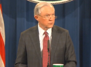 Attorney General Jeff Sessions (file photo)