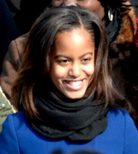 Malia Obama (Photo by Master Sgt. Cecilio Ricardo)
