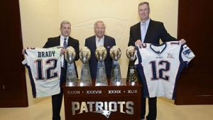 The FBI returns Tom Brady's stolen Super Bowl jerseys to Gillette Stadium. Photo via FBI.