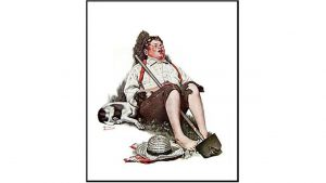 The stolen Norman Rockwell painting.